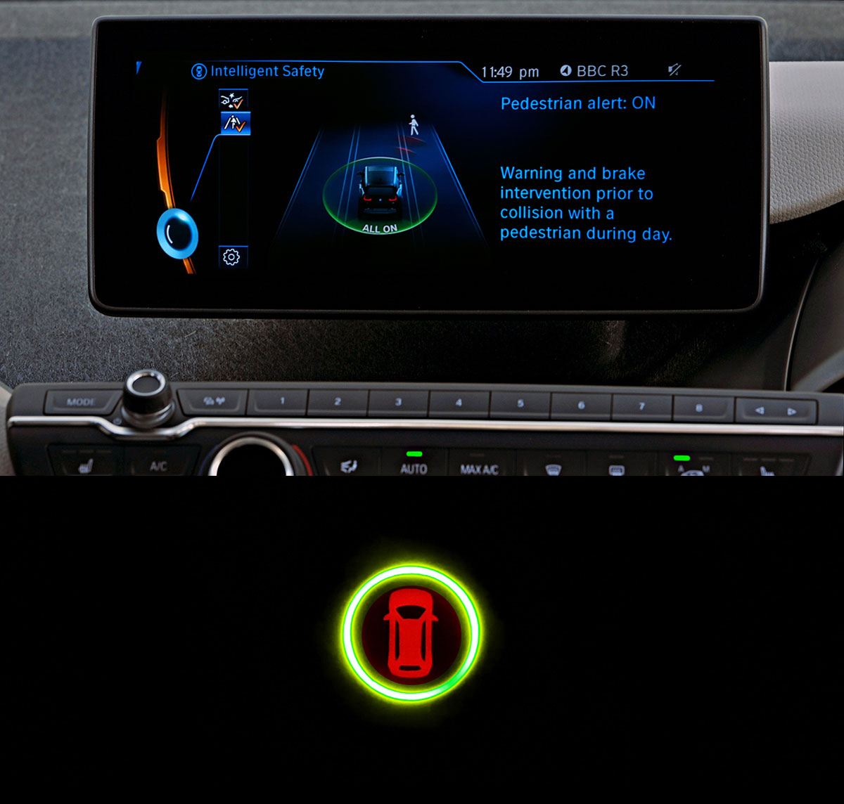 BMW i3 Intelligent Safety On