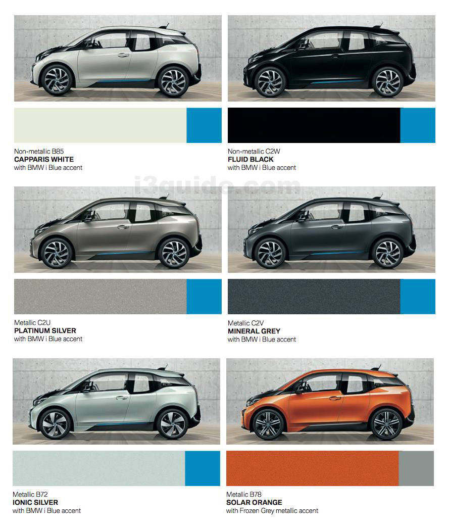 Bmwi3 Guide The Electic Car Owners Full Of Useful Tips Bmw I3 Vehicle Electrical System Control Units Location New Colours For