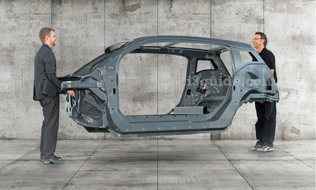 BMW i3's light weight carbon fibre frame